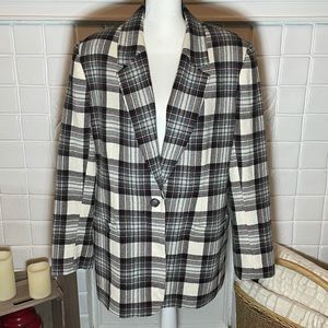 White Stag Plaid Blazer